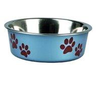 Karlie-Flamingo Stainless steel bowl with plastic sheath blue 21cm 1500ml - Dog Bowl
