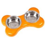 Karlie-Flamingo Miska nerez KOST 2x400ml/36x22x8cm/oranžová - Miska pro psy