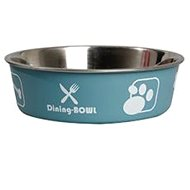 Karlie-Flamingo Stainless-steel Bowl with Plastic Coating - Dog Bowl