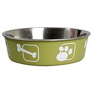 Karlie-Flamingo Stainless-steel Bowl with Plastic Sheath, Green, 23cm, 2200ml