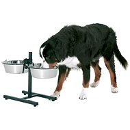 Karlie-Flamingo Bowl Stand with Stainless-steel Bowls 2 x 22cm, 2,5l - Dog Bowl Stand
