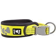 Obojek Hurtta Weekend Warrior neon citrónový 35-45cm - Obojek pro psy