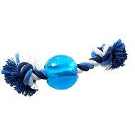 BUSTER Strong Ball s provazem sv. modrá, M - Hračka pro psy