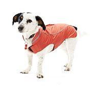 Obleček Raincoat Jahodová 53cm XL KRUUSE - Pláštěnka pro psy