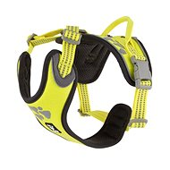 Postroj Hurtta Weekend Warrior neon citrónový 60-80cm - Postroj pro psa