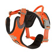 Postroj Hurtta Weekend Warrior neon oranžový 80-100cm - Postroj pro psa