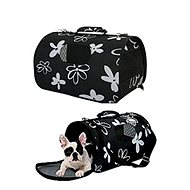 Zolux Flower Travel Bag L, black 25 x 51 x 33cm - Carrier Bag for Pets