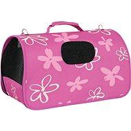 Zolux Flower Travel  bag,  Plum, M  25 x 44 x 29cm - Carrier Bag for Pets