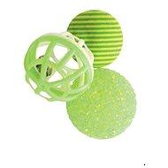 Toy cat set of balls 3pcs 4cm green Zolux - Cat toy