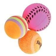 Toy cat set of balls 3pcs 4cm orange Zolux - Cat toy