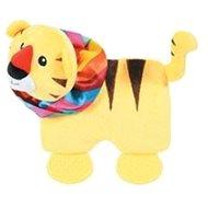 SQUARE TIGER plyš žlutá 21,5 cm Zolux - Hračka pro psy