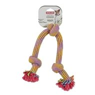 Toy dog Tug of war coloured 3 knots 48cm Zolux - Dog toy