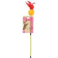 Toy Cat Pole Pompom Fishing Zolux Colour Mix - Cat toy