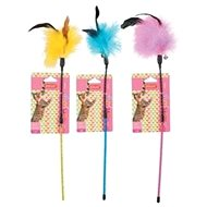 Rod Feather Duster Mix of Colours Zolux - Cat toy