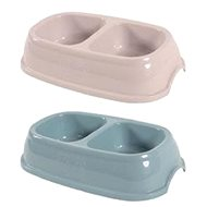 Zolux Plastic Double Bowl for Cats 2x0,2l Mixed Colour - Cat Bowl