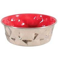 Miska nerez protiskluz DIAMONDS 1,8l červená Zolux - Miska pro psy