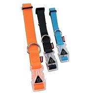 Obojek pes SILICONE svítící oranž 25mm/45-58cm Zolux