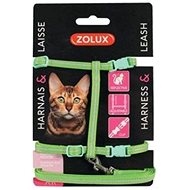 Zolux Cat Harness with Leash, Green 1.2m - Cat harness