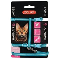 Zolux Cat Harness with Leash, 1.2m Blue - Cat harness