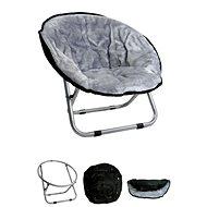 Papillon křesílko, Relax, světle šedé, 50 × 50 × 40cm - Pelíšek pro psy a kočky