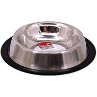 DOG FANTASY Stainless-steel Bowl with Rubber, 16cm, 0,18l - Dog Bowl
