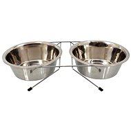 Stojan na misky DOG FANTASY Stojánek nerez souprava 21 cm 2 × 1,57 l - Stojan na misky