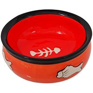 MAGIC CAT Miska keramická s rybkou oranžová 12,5 × 5 cm - Miska pro kočky