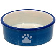 MAGIC CAT Miska keramická kočičí tlapka modrá 12,5 × 5 cm - Miska pro kočky