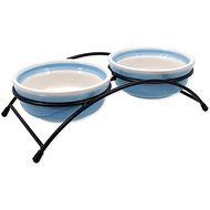 MAGIC CAT Ceramic  Bowl Set With Blue Stand  2 × 12.5 × 5cm - Cat Bowl