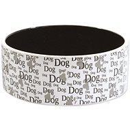 DOG FANTASY Ceramic Bowl with Dog Print, 0,75l, 16 × 6cm - Dog Bowl