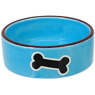 DOG FANTASY Ceramic Bowl with Bone Print, Blue 12.5 × 4.5cm 0.29l