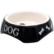DOG FANTASY Bowl with Dog Print,  Black, 18,5 × 5,5cm - Dog Bowl