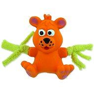 DOG FANTASY hračka latex mini medvěd oranž.zvuk 7 cm
