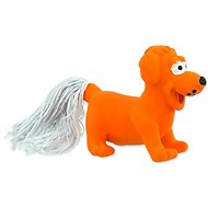 DOG FANTASY hračka latex mini pes oranžová se zvukem 7 cm