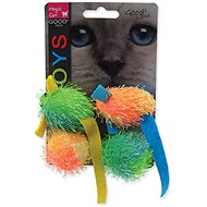 MAGIC CAT Toy Mouse and Ball with Catnip 5cm 4 pcs - Cat Toy Mouse
