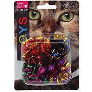 MAGIC CAT hračka míček s třásněmi lesklý 3,75 cm 4 ks - Míček pro kočky