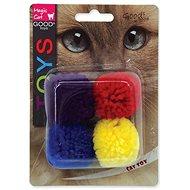 Míček pro kočky MAGIC CAT hračka míček bavlna s catnip 3,75 cm 4 ks - Míček pro kočky