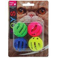 MAGIC CAT hračka míček děrovaný plast se zvukem 3,75 cm 4 ks - Míček pro kočky