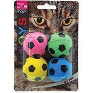 Míček pro kočky MAGIC CAT hračka míček pěnový fotbalový 3,75 cm 4 ks - Míček pro kočky