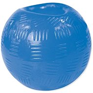 DOG FANTASY Strong  Rubber Ball, Blue 8.9cm - Dog Toy Ball