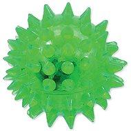 DOG FANTASY hračka míček LED zelená 5 cm