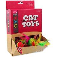MAGIC CAT hračka míček s pírky 3,8 cm 60ks - Míček pro kočky