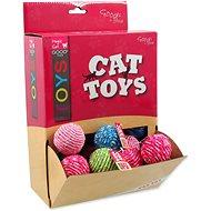 MAGIC CAT hračka míček bavlna 4 cm 50ks - Míček pro kočky