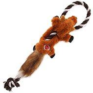 Hračka pro psy DOG FANTASY hračka skinneeez s provazem liška 35 cm