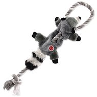 DOG FANTASY hračka skinneeez s provazem mýval 35 cm - Hračka pro psy