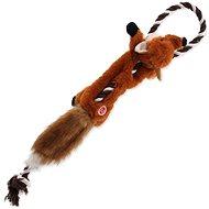 DOG FANTASY hračka skinneeez s provazem liška 57,5 cm - Hračka pro psy