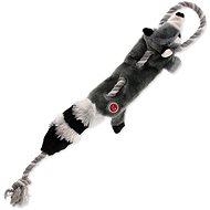 DOG FANTASY hračka skinneeez s provazem mýval 57,5 cm - Hračka pro psy
