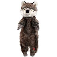 Hračka pro psy DOG FANTASY hračka skinneeez vlk plyš 50 cm