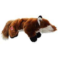 DOG FANTASY hračka plush pískací liška černé tlapky 45 cm - Hračka pro psy