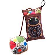LET´S PLAY hračka polštářek motiv kočka s catnip 9 cm - Hračka pro kočky